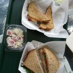 Vanderbilt Sub with Potato Salad and Tuna Salad Deli Sandwich