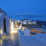 The main street of Oia, so clean just after sunset