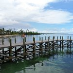  The jetty at the front of the resort.. we jumped off and swam here, its beautiful