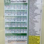  Cpy of the bus timetable from Nice