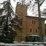  il castello nella spendida cornice del parco in inverno