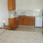 Kitchenette area of room