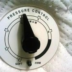 pressure control on the side of the bed