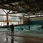 wave pool (oh look...snow outside)