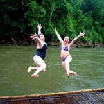 Jumping into River Kwai!
