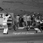Garlits leaving the line at Continental Divide Raceways in 1963. This was before the Christmas T