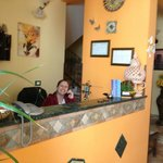  The owner at the reception desk