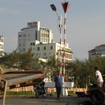 View from the waterfront: Kimtho Hotel  |  1A Ngo Gia Tu St, Can Tho, Vietnam
