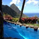 "View from plunge pool - Suite ""E"""
