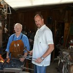  George making me feel good about my blacksmithing skills..he invited me back to spend the whole 