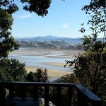 View of Knysna Lagoon off Under Milkwood cabin balcony