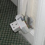  The said socket outside mums room. Very safe!