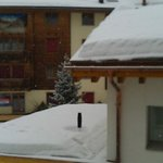 View from the room, Plenty of snow