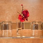  en-suite glass shelf