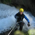  Abseiling into the falls!