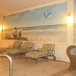 Hand painted murals and plush seating all along the deck!