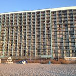  Beach front view of the Landmark.