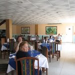  Inside the hotel restaurant - very good food