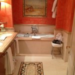  Spectacular junior suite bathroom - that&#39;s a marble mosaic in the floor!