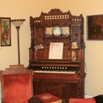 The pump organ in the sitting room