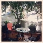  a rainy sydney.. the courtyard for bbqs and a few drinks