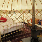 One of Cuckoo Down Farm yurts