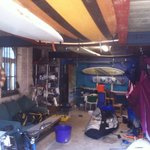 The Watersports centre in the boatshed