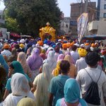 Nagar kirtan near golden temple