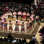  Ceremonial beginning, introduction of all wrestlers by weight division