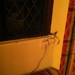  Interesting wiring, be careful not to knock it when sitting on the window seat.