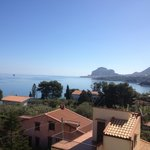 View of Cefalù from the roof terrace