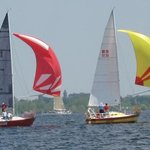 Beautiful sailboats on Muskegon Lake