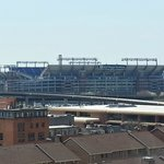 Ravens stadium as seen from my room