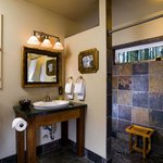  The bathrooms are works of art, with oversized walk-in slate showers.