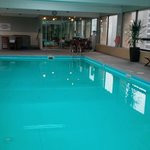  The pool in the hotel on the 19th floor
