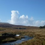 Looking back at The Garsdale from the waterfa