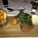 Fillet steak with probably the best chips I've had in my life !