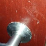  Filthy door know going into bathroom