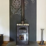  Wood stove in villa