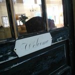 "Loved the ""welcome"" door"