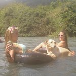  Tubing the Lanquin river