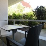 Terrasse privative chambre Familiale Hôtel Point France