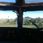  View from in the actual cockpit