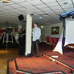  Stage set up in the function room