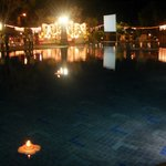  poolside being used for a wedding