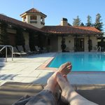  relaxing by the pool at Napa Valley Lodge