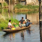  local mode of transport at Inle Lake
