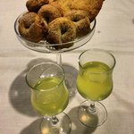 limoncello and pastries