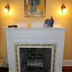  Fireplace in yellow room