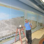 Ken Wells - Artist painting the new Mural